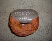"Nashua April ""coral"" 100% Cotton Knitting Yarn Aran 13 skeins destash"