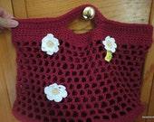 Rectangular Raspberry market bag