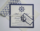 Handcrafted Anchor Invitations for Nautical Baby Shower or Birthday