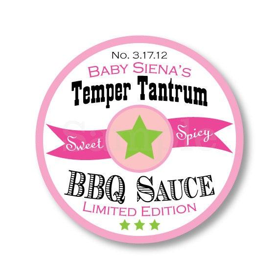 BBQ Sauce Sticker - BBQ Favor Sticker - BBQ Sauce Favor - Baby Shower Sticker - Canning Jar Sticker - Barbeque Favor Sticker