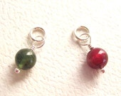 Tourmaline Round Bead Gemstone Dangle