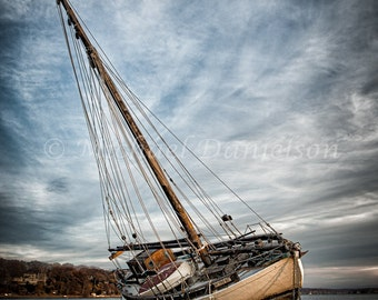 Shipwreck Sail Boat Nautical Beach Print 8x10