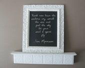Vintage Wedding, Antique Framed Chalkboard, Ornate Shabby Chic