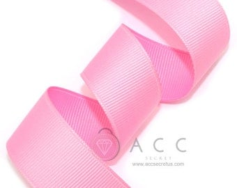 Pink Grosgrain Ribbon - 5mm(2/8''), 10mm(3/8''), 15mm(5/8''), 25mm(1''), and 40mm(1 1/2'')
