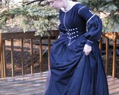 Sale: Early Victorian 1840s Cotton Voile Day Dress - women's small