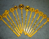 Lot of 12 Andy's Diner Road Sign Swizzle Sticks