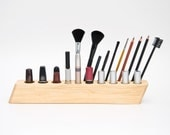 Wooden COSMETIC MAKEUP ORGANIZER Brush Holder Big Scarlett