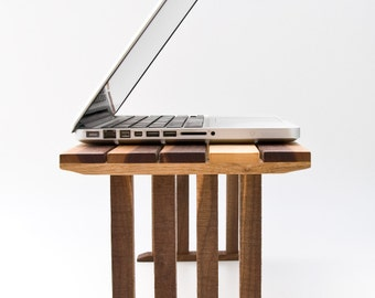 Table de chevet pour ordinateur portable, tour bois bureau, canapé, Table, lit ordinateur portable support, fin Table KOKO