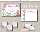 Sweet Shoppe Party Package  - Printable Birthday Party Package