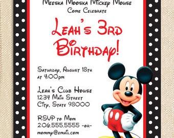 Micky Mouse invitations - set of 15