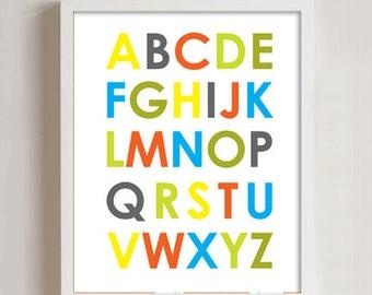 8x10 - Alphabet Print wall art