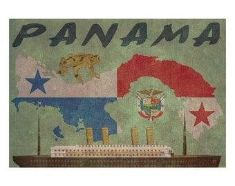 PANAMA 1FS- Handmade Leather Journal / Sketchbook - Travel Art