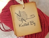 Knitted By Tags, Handmade By, Labels, Gift Tags, Packaging, Gift Wrapping
