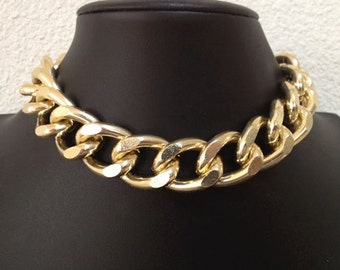Big Mama II, Thick Large Chunky Gold Chain, Light Gold, Choker