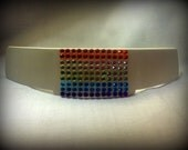 Blinged Out Clergy or Clerical Collar Tab- Rainbow or White