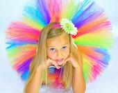 Rainbow Birthday Tutu...Colorful Rainbow Tutu for Birthday Girls, Halloween Clown Tutu...Baby to Adult Women Sizes . . . CANDY RAINBOW TUTU