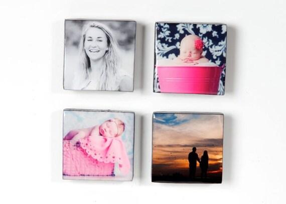 Four Single Custom Hipstamagnet  (choose your own photos)