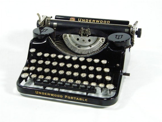 Vintage Portable Typewriter 1930s