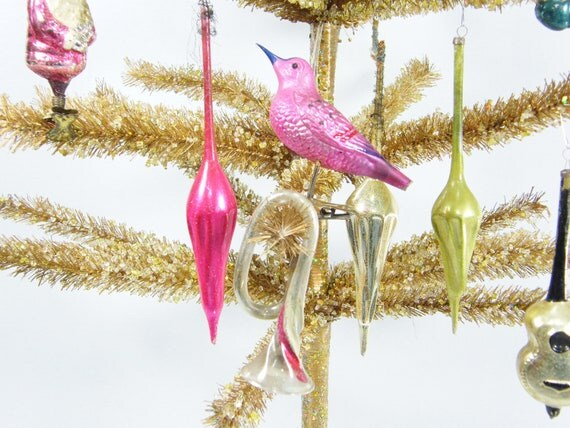 10 Vintage Glass Ornaments