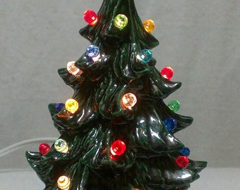 9' Green Ceramic Christmas Tree