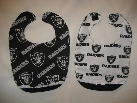 Raiders Baby Bibs for Twin Girls SPECIAL ORDER for KAREN