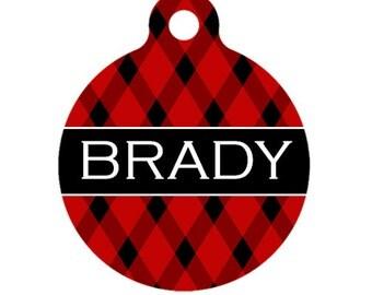 Personalized Pet ID Tag - Brady Custom Name Pet Tag, Dog Tag, Cat Tag