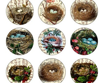 nests 1 inch round images Printable Download Digital Collage Sheet 1 inch circle diy jewelry pendant