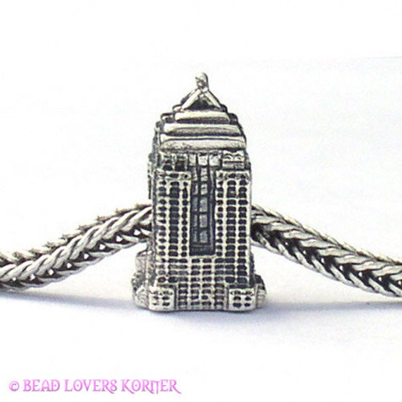 Empire State Building Landmark Bead Sterling Silver LM032