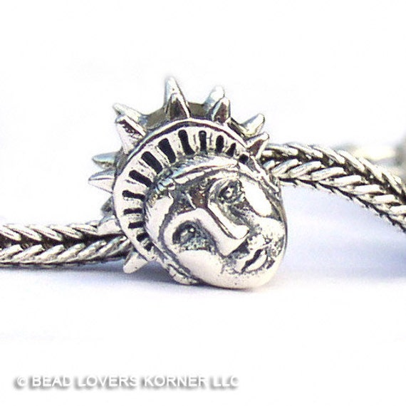 Statue of Liberty Sterling Silver Landmark Charm Bead LM016