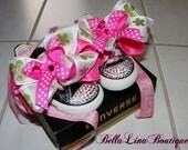 Custom Swarovski Crystal DIVA Baby or Toddler Girls Boutique Tennis Shoe - Converse All Star High Tops or Lows