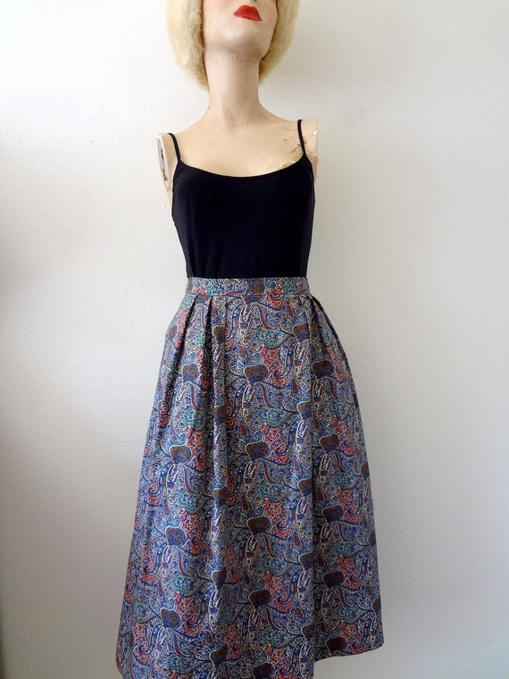 1970s A-Line Skirt / Liberty of London Print Cotton