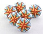 Compass  Pushpins  / Magnet / Thumbtack  / Flat Fabric Covered Buttons  / Pushpin / Rose  /  Travel / Find Your Way / Direction