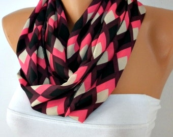 Chevron Infinity Scarf Summer Circle Loop Scarf Gift Ideas For Her best selling item scarf Fashion Accessories