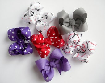 Set of 3 Twisted Boutique Bows - You Pick - 87Different Choices