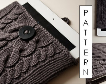 Kare Knits' Signature Cable Knit iPad / iPad Air Case - KNITTING PATTERN ONLY