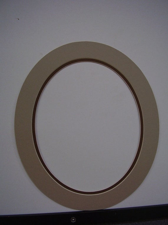 Picture Frame Mat Custom Cut For Oval Frame 11x13 For 8x10