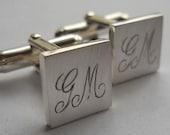 cufflinks groomsmen gifts cuff links engraved cufflinks sterling silver  groomsmen gifts initials cufflinks groom wedding best man gift