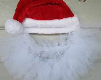 Tulle Santa Wreath, Christmas Wreath, Winter Wreath, Christmas Decorations, Santa Decorations, holiday wreath, door wreath