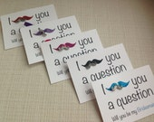 Bridal Party Charm Cards with Mustache