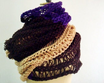 PATTERN Extra Large Knit Scarf, Oversized Knit Scarf Pattern