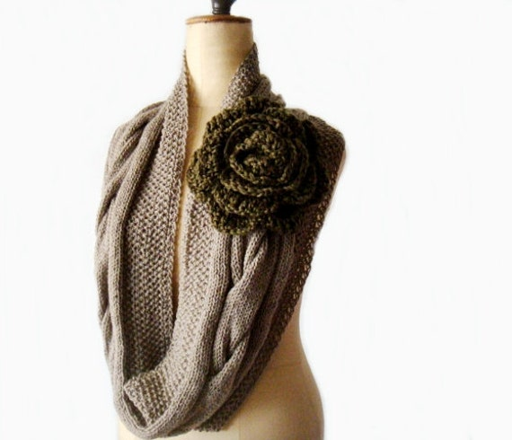 Knit Cowl Pattern Cabled Infinity Scarf Pattern Knit Circle