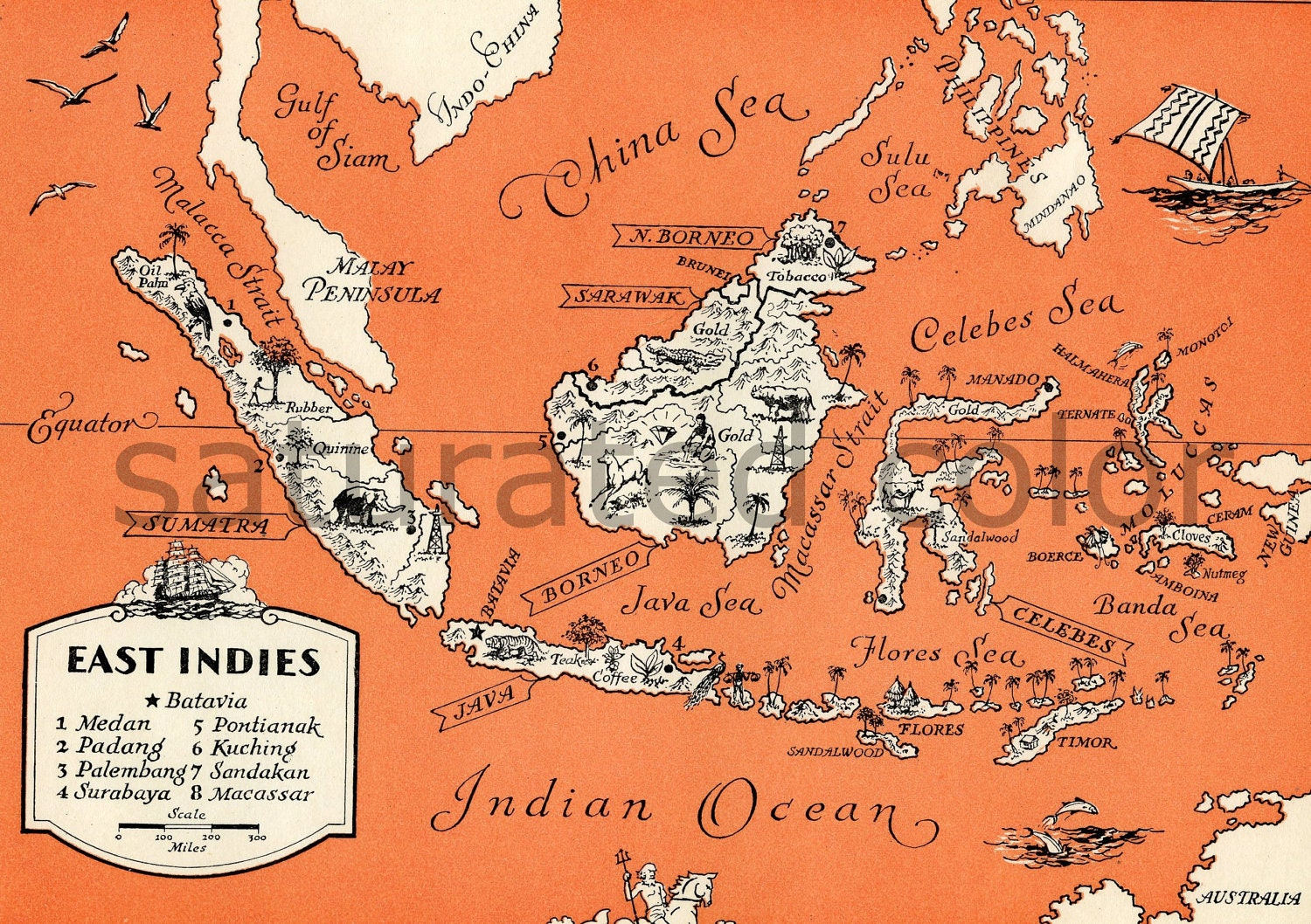 Map Of East Indies Islands