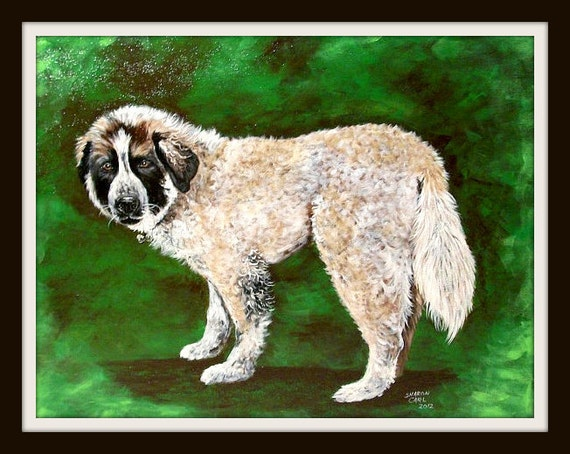Hand Painted  Pet Portrait 16 x 20  Canvas Painting of Your Dog or Cat or Horse Pet Lover Pets Custom Personalized