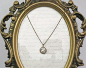 Necklace Swarovski Crystal 16 - 18 Inches Long on Antique Brass Chain, Weddings and Bridesmaid Gifts