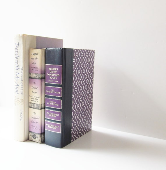 HOLIDAY SALE Lilac Purple Vintage Books Interior Design Home Decor Instant Collection