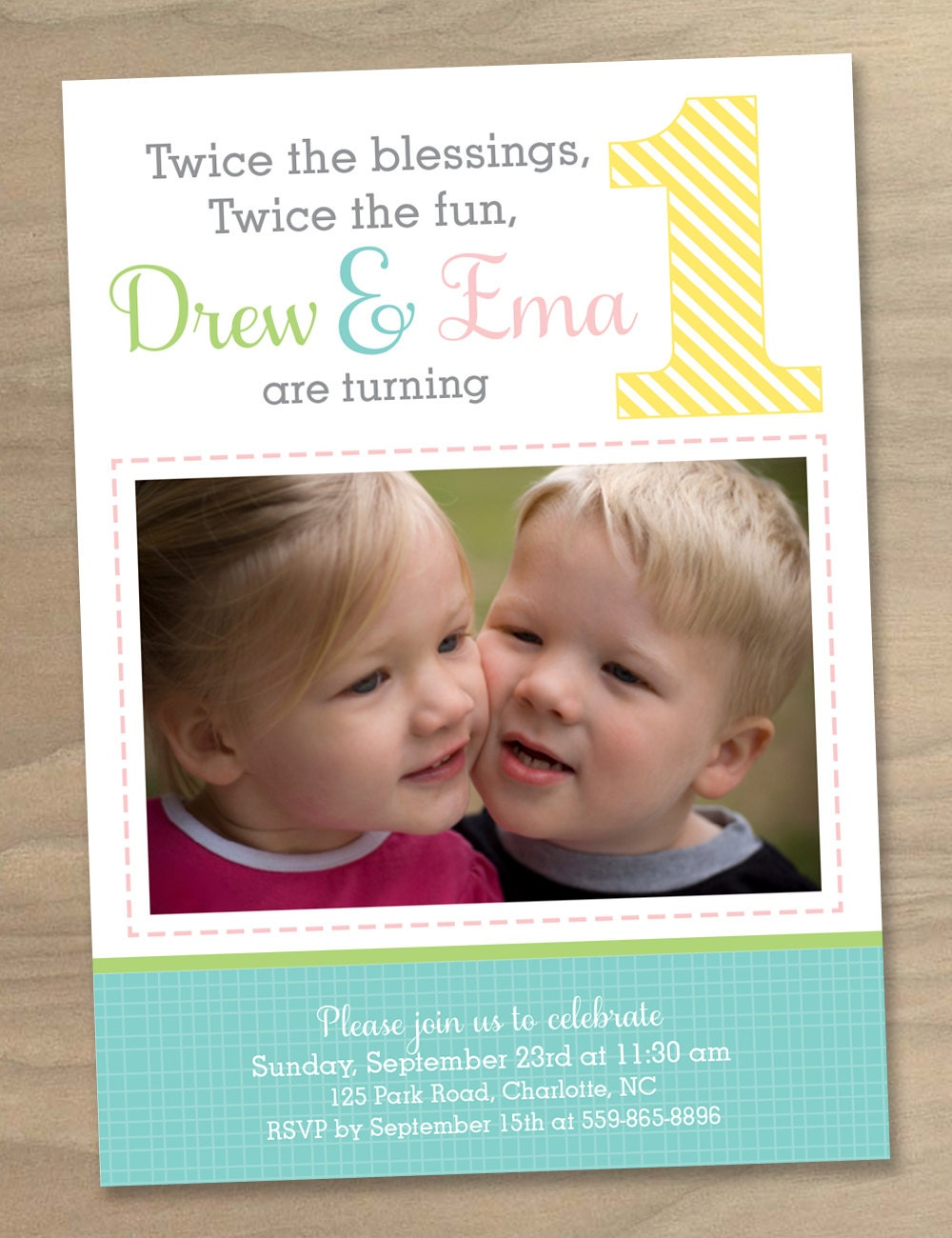 Elmo Birthday Invitations For Twins Twin Birthday Invitation