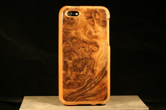 Handmade Wood cases for iPhone 5 Walnut burl and cherry