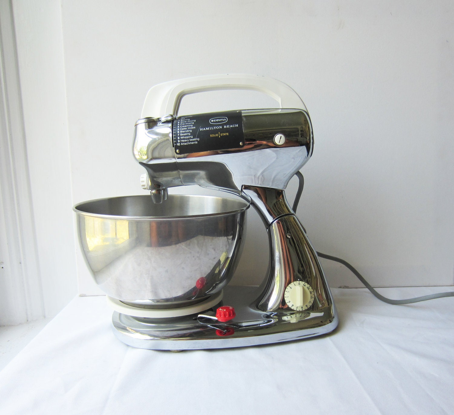 Small Exhibition Stand Mixer : Vintage chrome hamilton beach scovill solid state stand mixer