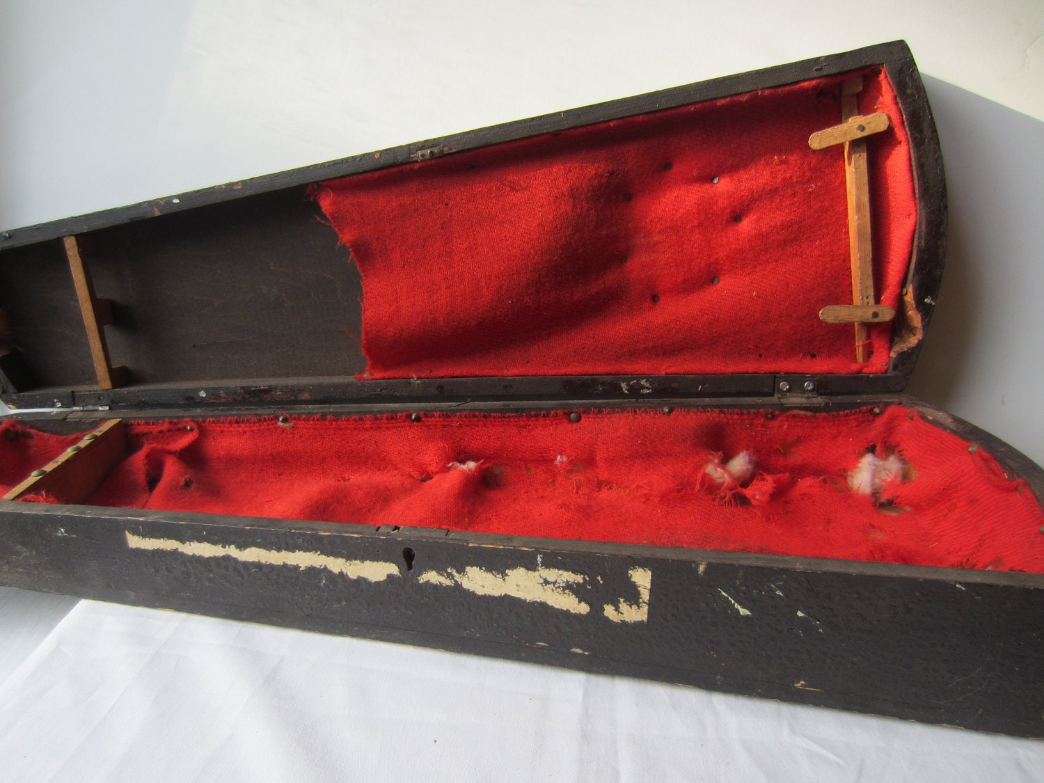 Vintage coffin wood violin bow case vampire by theeletterq