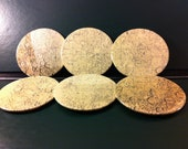 Vintage Celestial Coasters - Surface of Mercury (Set of 6)